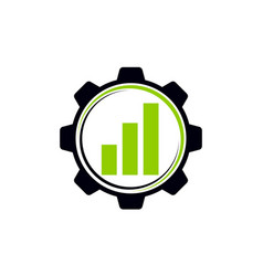 Business automation gear vector