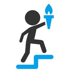 Child leader icon vector