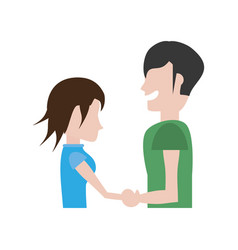 Couple romantic hands holding image vector