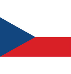 czech republic flag for independence day and vector image