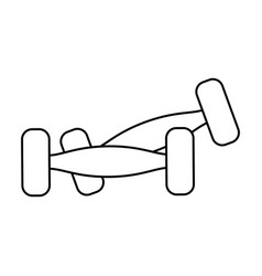 Dumbbell weights icon image vector