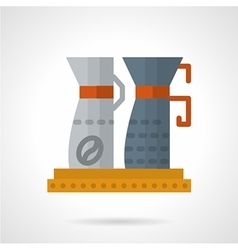 Flat color coffee equipment icon vector image vector image