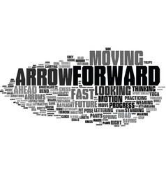 Forward word cloud concept vector