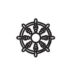 Helm sketch icon vector