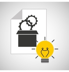 idea gear programming icon vector image