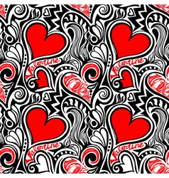 Love Valentine seamless pattern vector image vector image