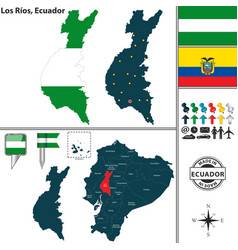 Map of los rios ecuador vector