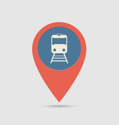 map pin railway station vector image vector image