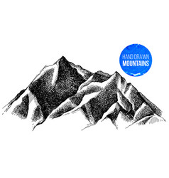 mountain peaks background vector image vector image