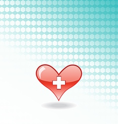 red medical heart vector image vector image