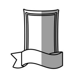 romantic label ribbon decoration vector image