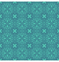 Seamless wallpaper with floral ornament vector image