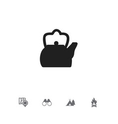 set of 5 editable camping icons includes symbols vector image vector image