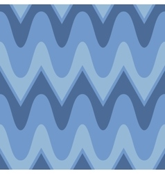 Simple blue scalloped seamless pattern vector