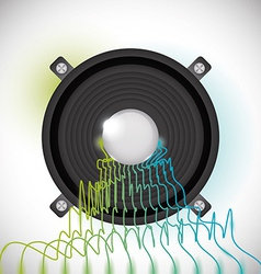Sound design vector image vector image