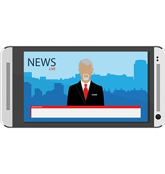 Tv broadcast news vector image