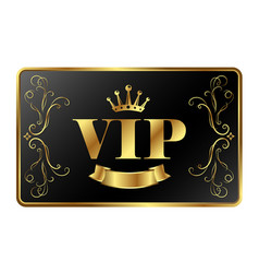 Vip card exclusive vector