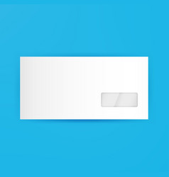 White Blank Closed Envelope Template vector image vector image