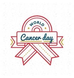 World cancer day greeting emblem vector