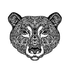 Bear grizzly or animal painted tribal ethnic vector