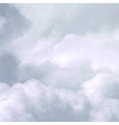 White sky and clouds vector