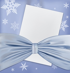 Blue bow paper vector