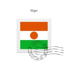 Niger flag postage stamp vector