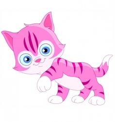 Smiley kitten vector