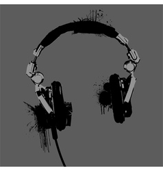 Headphones stencil vector