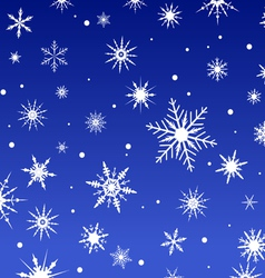 Snowflakes on a Blue Background 2 vector image
