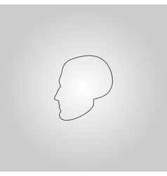 Head icon vector