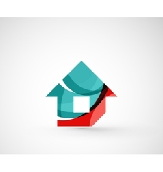Abstract geometric company logo home house vector
