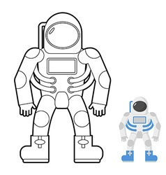 Astronaut coloring book of a space man vector