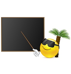 Relax lesson with smile vector