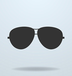 Police or cop sunglasses glasses black icon vector