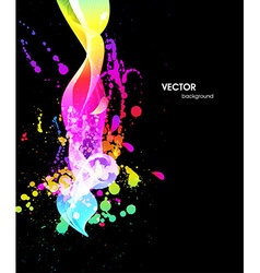 Abstract background with paint splash vector