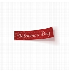 Valentines day realistic red tag with text vector