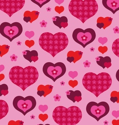 patterned hearts vector image