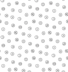 Sound voice multimedia seamless pattern vector