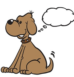 Dog with thought bubble vector