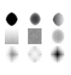 9 circular fades 5 vector