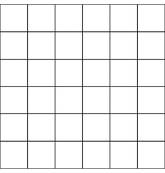 Black grid white background vector