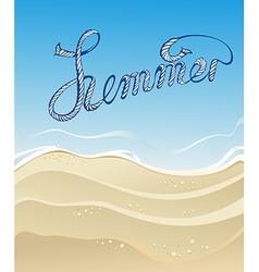 Sea sand sky and summer day vector