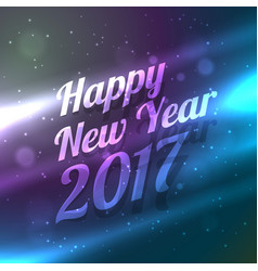Amazinf happy new year 2017 background with light vector