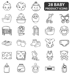 Baby product icons vector