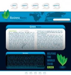 blue web vector image