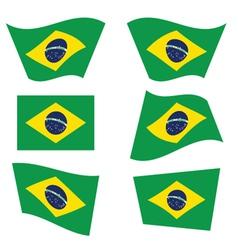 Brasil flag color vector