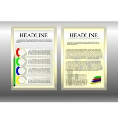 Business brochure template with people and world vector
