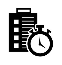 Checklist order delivery service with chronometer vector