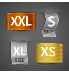 Clothing labels set vector image